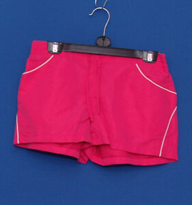 PINK-SHORTS-WITH-ELASTICATED-amp-DRAWSTRING-WAIST-SIZE-M