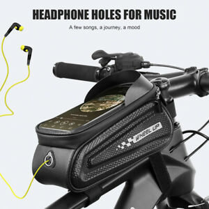 Cycling-Bike-Bicycle-Frame-Bag-Front-Tube-Pouch-Case-MTB-Waterproof-Phone-Holder