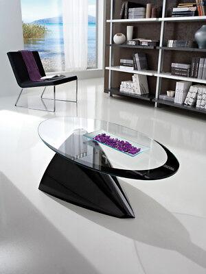 Tavolino Da Salotto Pamela In Cristallo/minerlmarmo X Soggiorno Divano Sala