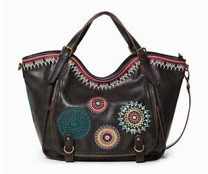 7ac8c8346d189 Das Bild wird geladen DESIGUAL-Bols-Siara-Rotterdam-Negro-Damentasche- Handtasche-Henkeltasche