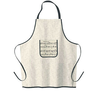 Music-Notes-Kitchen-Apron-Unisex-Adult-One-Size-Made-in-USA