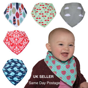 Premium-Baby-Bandana-Style-Dribble-Bibs-4-Pack-Super-Absorbent-Boy-Girl-Unisex