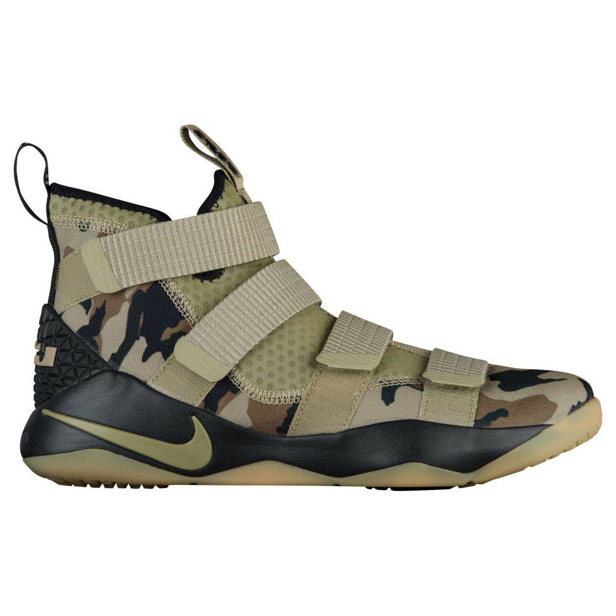 Nike Lebron Soldier XI Camo Mens 897644-200 Neutral Olive Hazel shoes Size 11