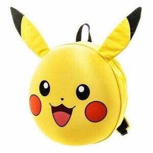 Genuine-Pokemon-Pikachu-3D-Molded-Back-Pack-Brand-New-AU-STOCK