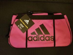 Image is loading Adidas-Diablo-Pink-Black-Small-Duffel-Bag-Gym- 6d0d022f0f829
