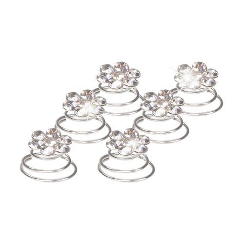 Haar Curlies Blumen Kristall Strass Haarspiralen Haarcurlies Hochzeit Braut