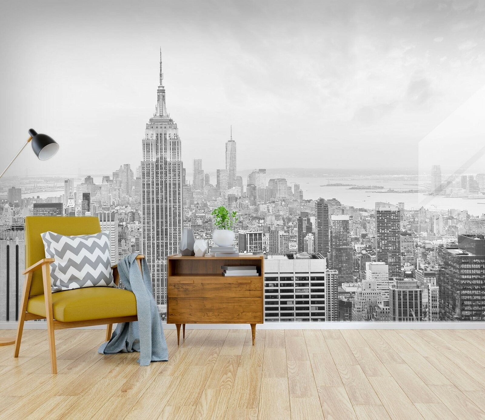 3D Empire State Building 45 Wall Paper Wall Print Decal Wall Deco Indoor Murals