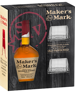 Maker-039-s-Mark-Bourbon-amp-Glasses-Gift-Pack-American-Whiskey-700mL