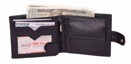 Black Mans Wallets Luxury Genuine Leather Credit Card Purse ID Card Holder