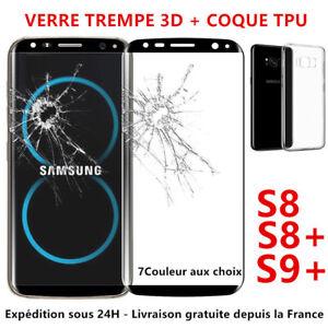 SAMSUNG-S8-PLUS-S9-VITRE-PROTECTION-ECRAN-VERRE-TREMPE-INTEGRAL-FILM-3D-COQUE