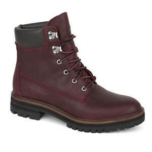 Details zu Timberland London Square 6 Inch Boots weinrot Damen Stiefel dark port