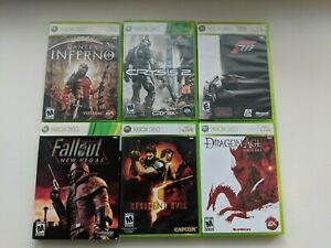 Xbox-360-Lot-Of-6-Games-Good-Titles-Complete-W-Manual-Fallout-Resident-Evil-etc