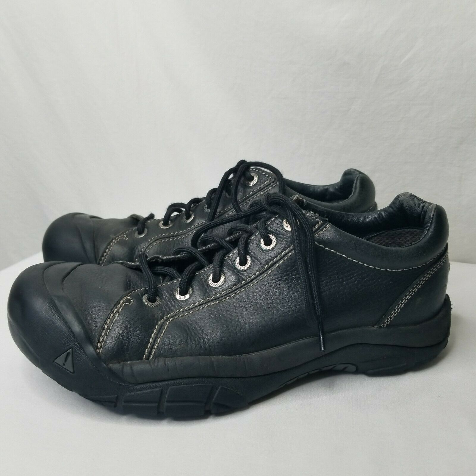 Keen Austin Black Leather shoes US Size 11 Casual Oxford Walking Lace Up EU 44.5