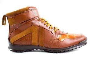 96002 Miele coccodrillo e Belvedere uomo vero Sneakers in da vitello Rc3L54jAq