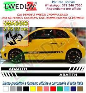 Fasce-adesive-Fiat-500-ABARTH-strisce-laterali-adesivi-fiancate-striscia-adesiva