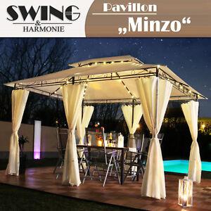 LED-Pavillon-3x4m-Garten-Pavilon-Designer-Pavillion-Gartenzelt-Solar-Pavilion