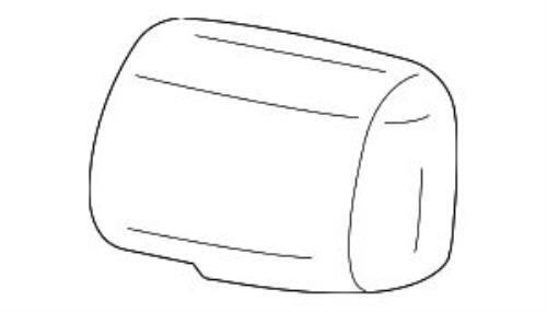 GENUINE TOYOTA YARIS OUTSIDE MIRROR CVR 87945-52080-A0 WHITE LEFT 87945-52060-A0