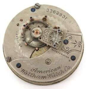 c1888-WALTHAM-18S-15J-MENS-POCKET-WATCH-MOVEMENT