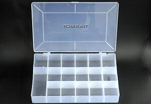 17 Fächer Kunststoff Plastikbox Sortimentskast<wbr/>en Tackle Box Köderbox Transparent