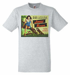 Jungle woman 1944 b movie poster retro 40s t shirt ebay for Attack of the 50 foot woman t shirt