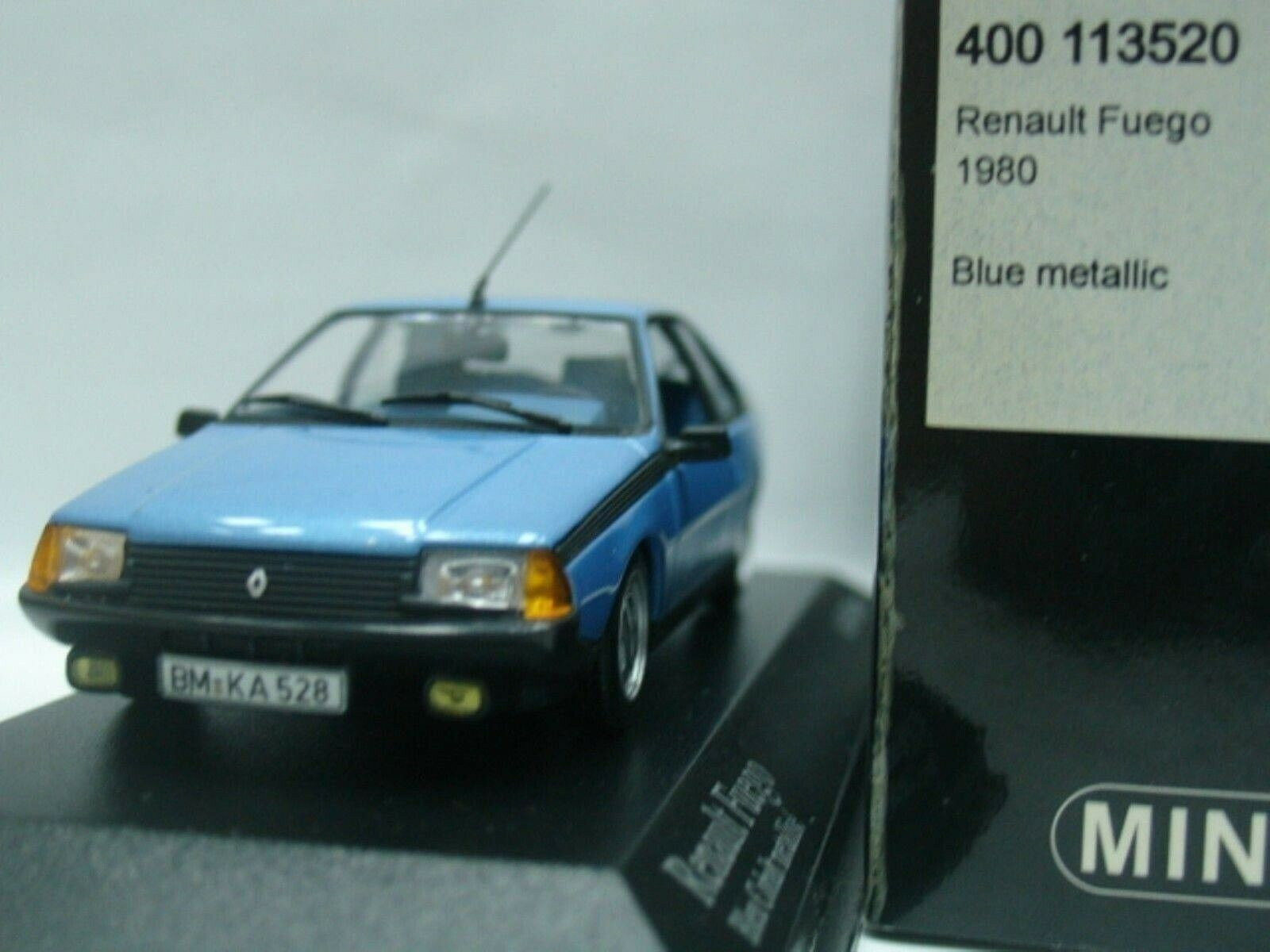 WOW estremamente raro RENAULT FUEGO 1.6 Turbo 1980 Horizon Blue 1:43 Minichamps-GT