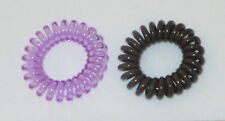 Item 2 Swirly Do Hair Ties Purple Brown Tangle Free Ponytail New Swirlydo Lindo Small
