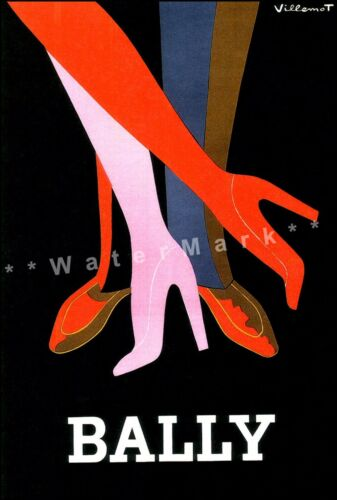 Bally Tango 1979 Vintage Poster Print Collectible Shoes Art Print by Villemot