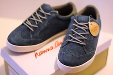 Hanna Anderson suede size 1 SHOES for BOYS & GIRLS kids blue sneakers tennis