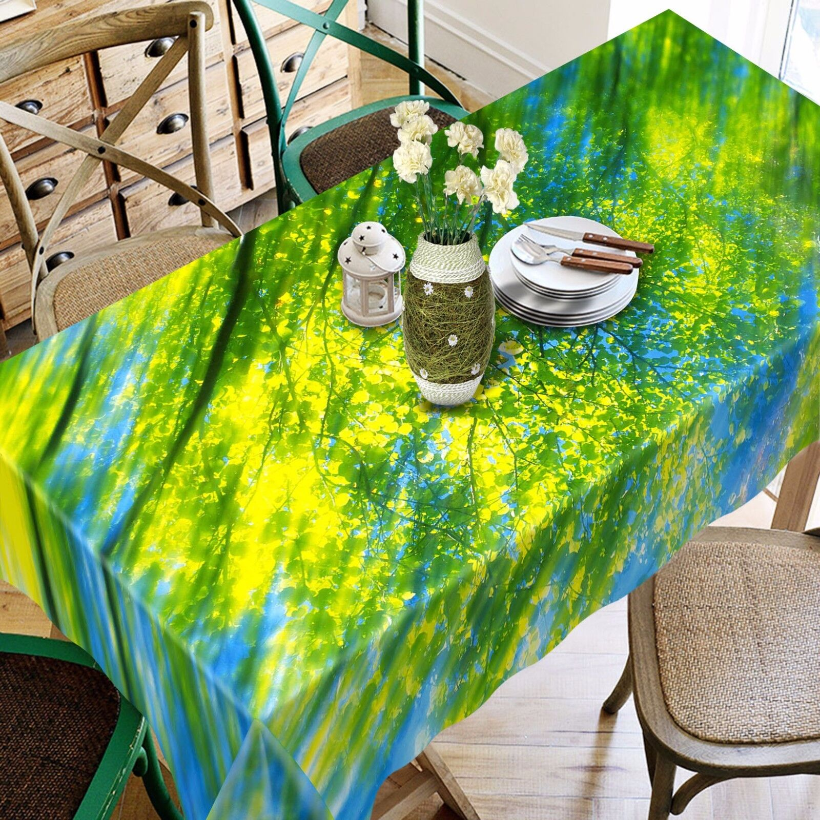 3D Sun Tree 896 Nappe Table Cover Cloth Fête D'Anniversaire événement AJ papier peint UK