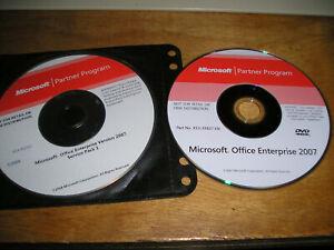 """Consciencieux Microsoft Partner Program """"office Enterprise 2007"""" Paquet 2 Disques-afficher Le Titre D'origine"""