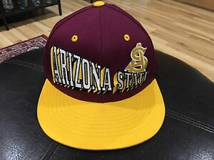 ed9aa6b3 Image is loading Vintage-Arizona-State-University-Sun-Devils-SnapBack-Hat-
