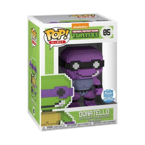 Teenage Mutant Ninja Turtles Neon DONATELLO 8Bit Funko Shop ESCLUSIVA POP VINILE