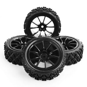Details about 110 RC Rally Racing Off Road Car Rubber Tyre Tires and Wheel 4PCS PP0487+C12NK