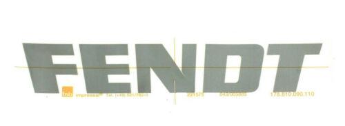 FENDT Aufkleber Schriftzug Kabine Größe 33 x 5,5 cm grau  178810090100