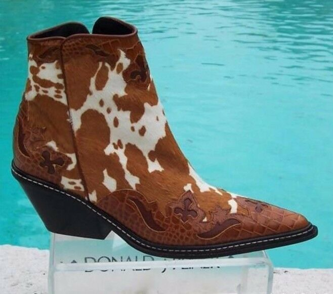 Donald Pliner Western Couture Couture Couture Apachee Hair Calf Pelle Boot Shoe New NIB  675 0c75ec