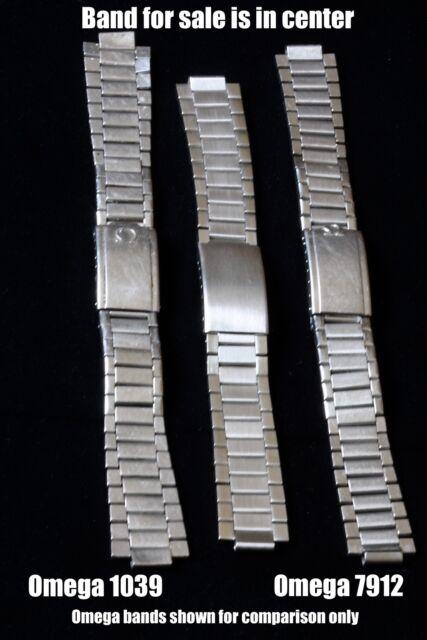 Unsigned flat-link 1960s watch bracelet NOS for Omega Speedmaster Seamaster 300