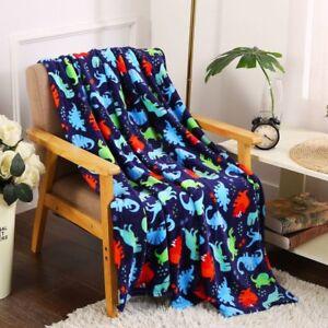 ae29ced420 Ultra Soft   Plush Oversized Dinosaurs Throw Fleece Blanket - Multi ...