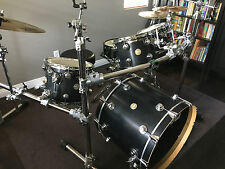 DW Collectors Series Ebony Satin 4pc + Pork Pie snare, all Pristine Condition