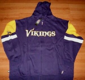 big sale 8281d a3aef Details about Minnesota Vikings Full Zip Hoodie 4XL Tall Embroidered Logos  Hooded Jacket NFL