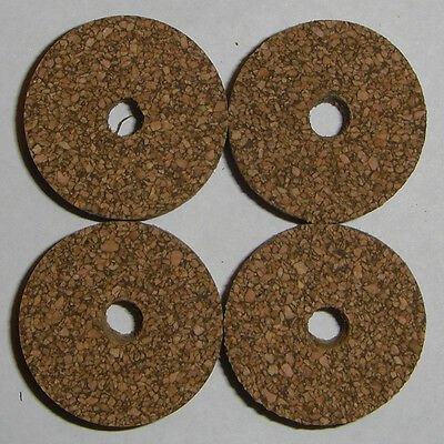 """10 BROWN SPOTTED RUBBERIZED RUBBER CORK RINGS 1 1//4/"""" D x 1//2/"""" H x 1//4/"""" I.D."""