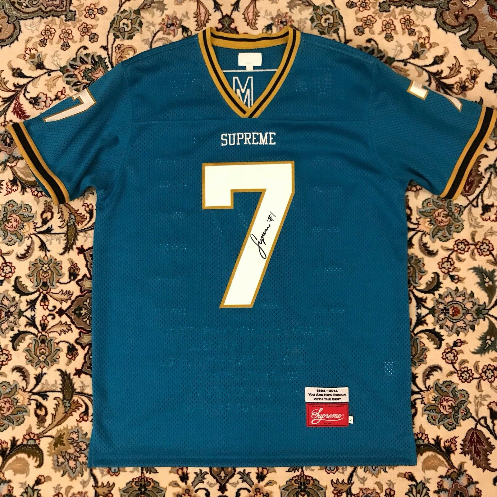 146fa127f Supreme rare Hail jersey in teal size Large Mary nrncil6117-T-Shirts ...