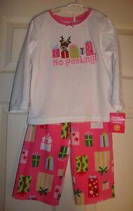 Carter's~girls~presents/no/peeking/fleece/pajama/set! n/w/tags Really/cute 3/t