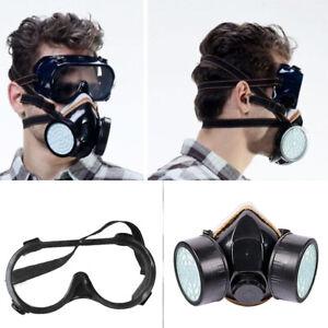 profi lackiermaske für Aktivkohle- Atemschutzmaske Schutzbrille mit Staubmaske
