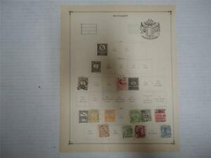 Antique-Hungary-Postage-Stamps-1888-1900-Lot-of-11-On-Page-Make-an-Offer