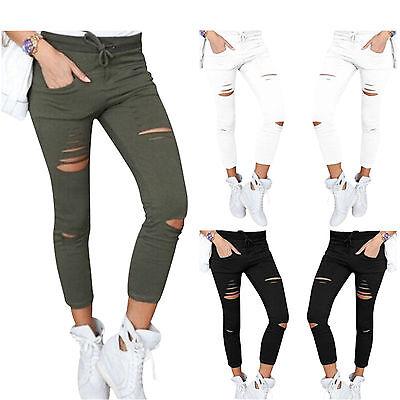 Da Donna Elastico Sbiadito Strappato Slim Fit Skinny Jeggings Pantaloni Donna Pants-mostra Il Titolo Originale Elegante E Grazioso
