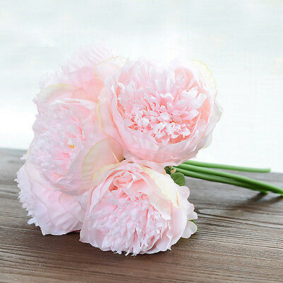 New Artificial Fake Peony Silk Flower Bridal Hydrangea Home Wedding Garden Decor