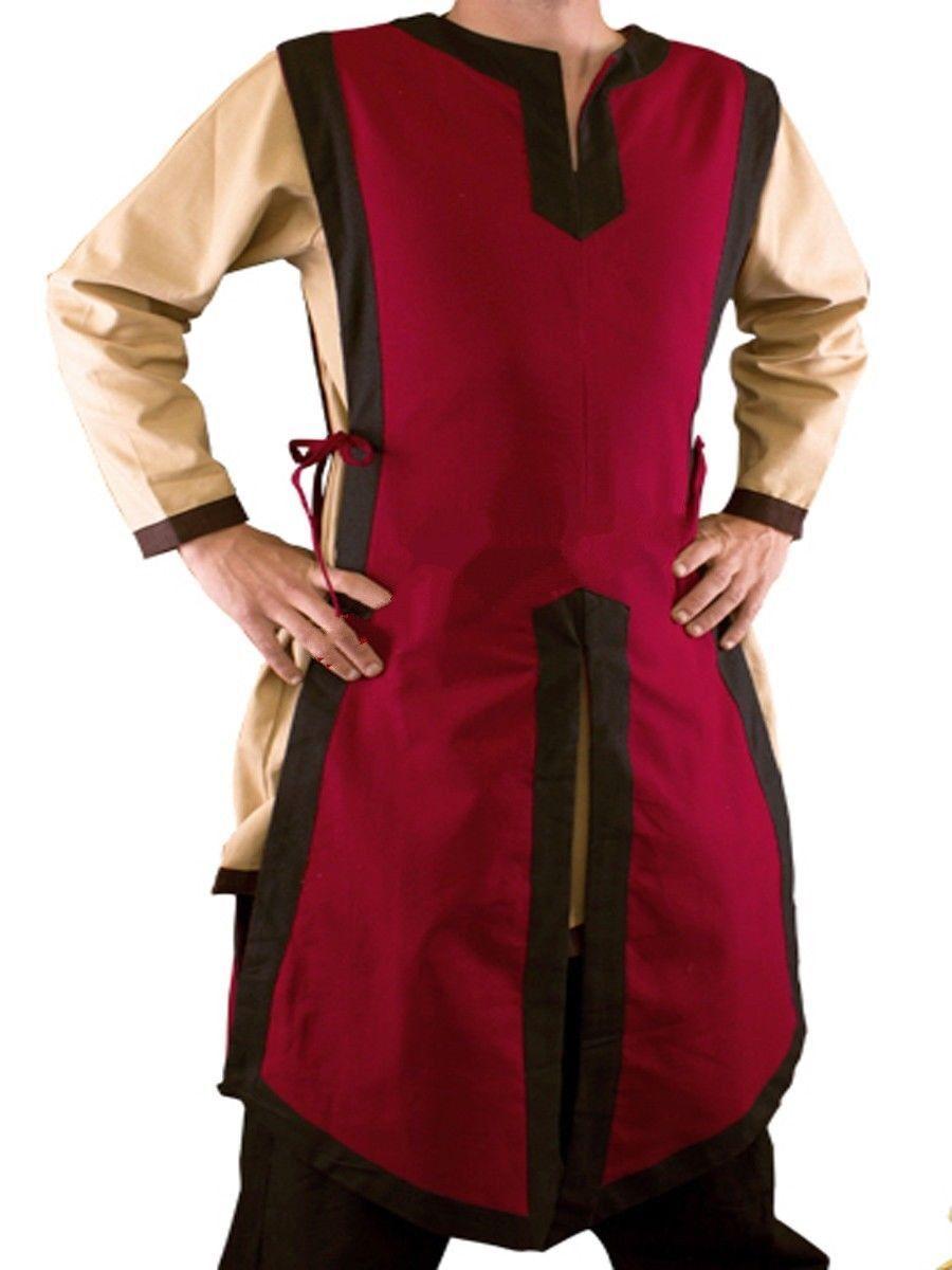 New Medieval Celtic Viking Tunic Sleeveless Black&Pink Colors renaissance shirt