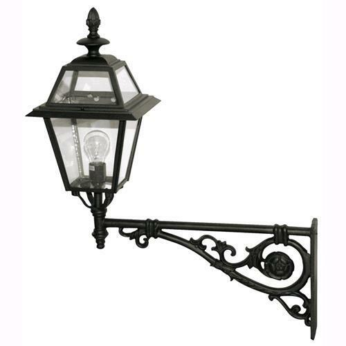 sconto online di vendita Lampada Lampada Lampada Lanterna Applique Da Giardino Mod. Praga, Braccio Lungo,Nero 62x71cm.  shopping online di moda