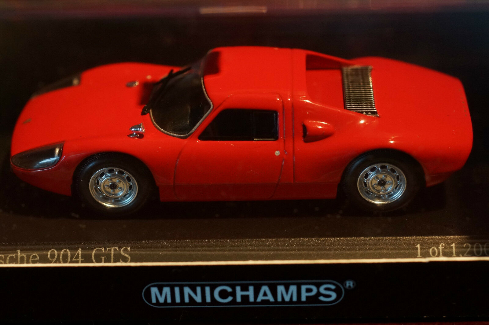 Rare Minichamps Porsche 1 43 Scale 904GTS Red MINT Boxed Ltd Collectors Edition