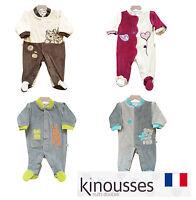Les Kinousses Luxury Baby Boy/Girl Bodysuit Sleepsuit - French Quality Brand